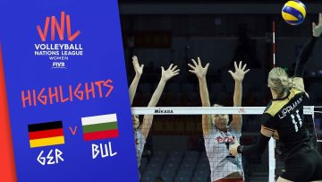 GERMANY vs. BULGARIA – Highlights Women   Week 5   Volleyball Nations League 2019