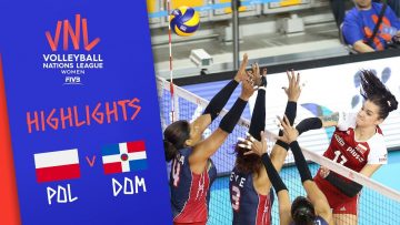 POLAND vs. DOMINICAN REPUBLIC – Highlights Women | Week 5 | Volleyball Nations League 2019