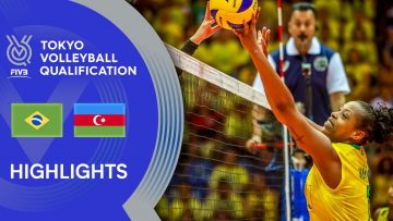 BRAZIL vs. AZERBAIJAN – Highlights Women | Volleyball Olympic Qualification 2019