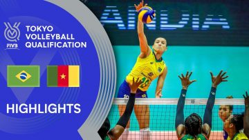 BRAZIL vs. CAMEROON – Highlights Women | Volleyball Olympic Qualification 2019