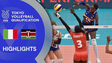 ITALY vs. KENYA – Highlights Women | Volleyball Olympic Qualification 2019
