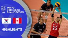 KOREA vs. CANADA – Highlights Women | Volleyball Olympic Qualification 2019