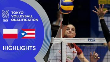 POLAND vs. PUERTO RICO – Highlights Women | Volleyball Olympic Qualification 2019