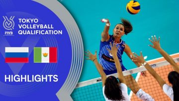 RUSSIA vs. MEXICO – Highlights Women | Volleyball Olympic Qualification 2019